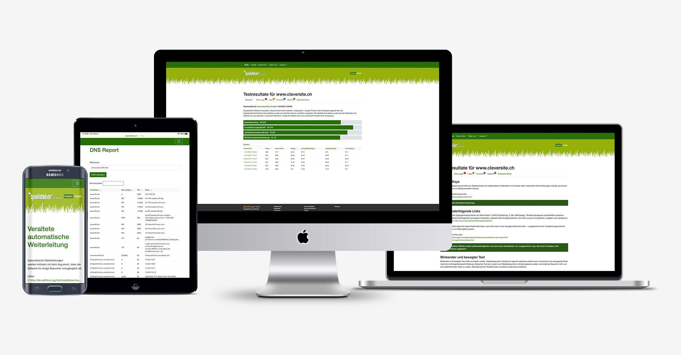 Qualidator - Testen Sie die Qualität Ihrer Webseite!